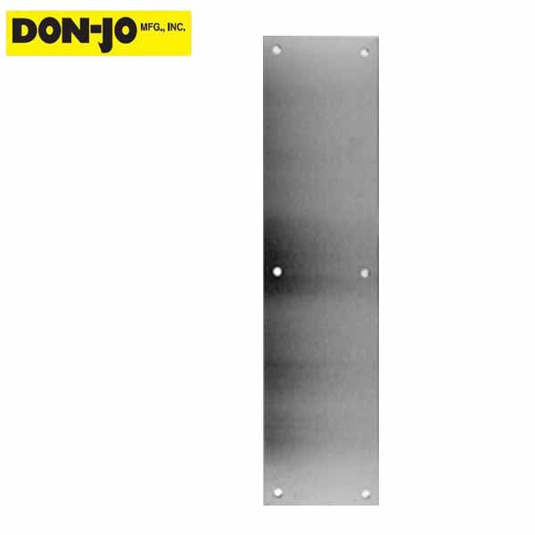 Don-Jo Push Plate - Silver  (71-628)