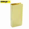 "Don-Jo - Wrap Plate #90 - Blank -1-3/4"" Doors - Gold (90-PB-CW)"