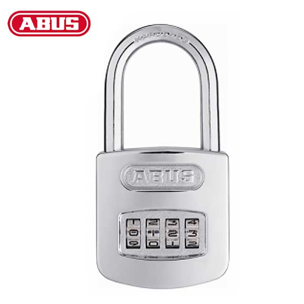 "Abus - 160/50HB50 C - Steel / Chrome - 4-Dial Resettable Padlock - 2"" Shackle"