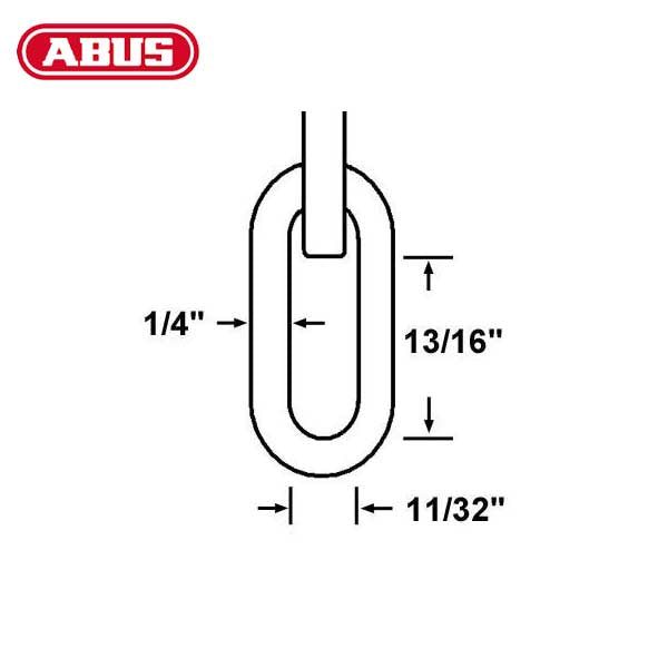 "Abus - 6KS - 2 Foot - High Security Chain & Sleeve - 1/4"" Diameter"