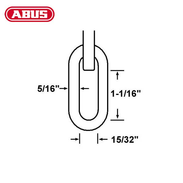 "Abus - 8KS - 10 Foot - High Security Chain & Sleeve - 5/16"" Diameter"
