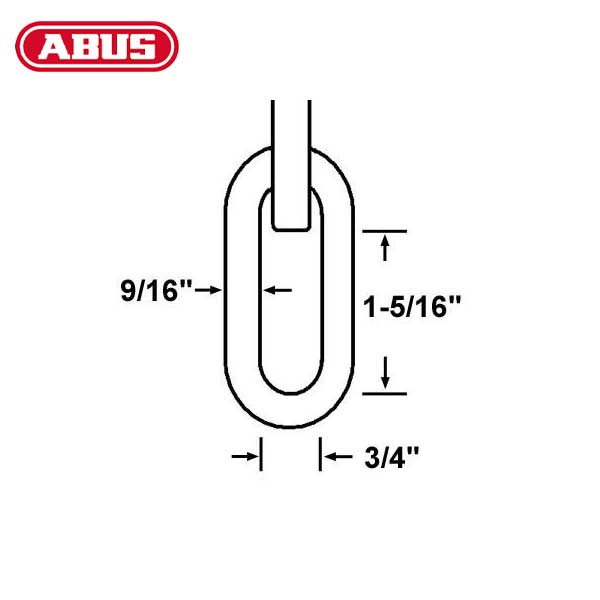 "Abus - 14KS - 10 Foot - High Security Chain & Sleeve - 9/16"" Diameter"