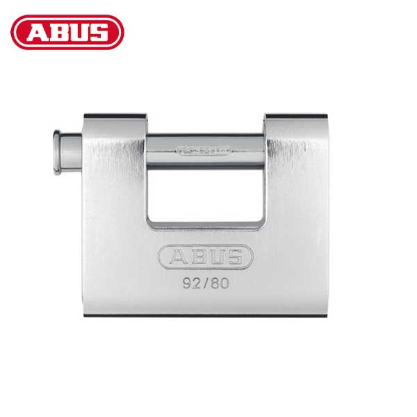 Abus - 92/80 - Solid Brass with Steel Jacket Monoblock Padlock - 3-5/64""