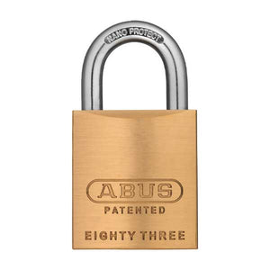 "Abus - 83KnK/45 - Premium Loaded Brass Padlock - S2 - KIK Key In Knob - Prepped for Sargent - No Cylinder  - 1-27/32"" Width"
