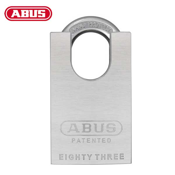 "Abus - 83CS/50-3000 - Chrome Plated Brass Padlock w/ Shackle Guard - S2 - Schlage C-L  - 5/6 Pin - Rekeyable - 1-57/64"" Width"
