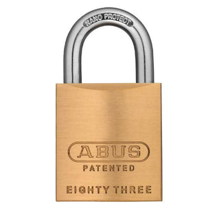 "Abus - 83/45-300 - Premium Loaded Brass Padlock - S2 - Schlage C - 5/6 Pin - Rekeyable - 1-53/64"" Width"