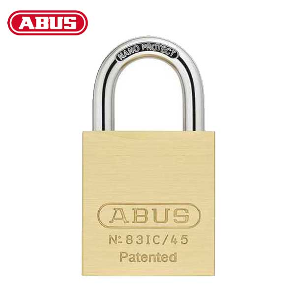 "Abus - 83IC/45 B - Premium Loaded Brass Padlock - S2 - SFIC Interchangeable Core - 1-27/32"" Width - 1"" Shackle"