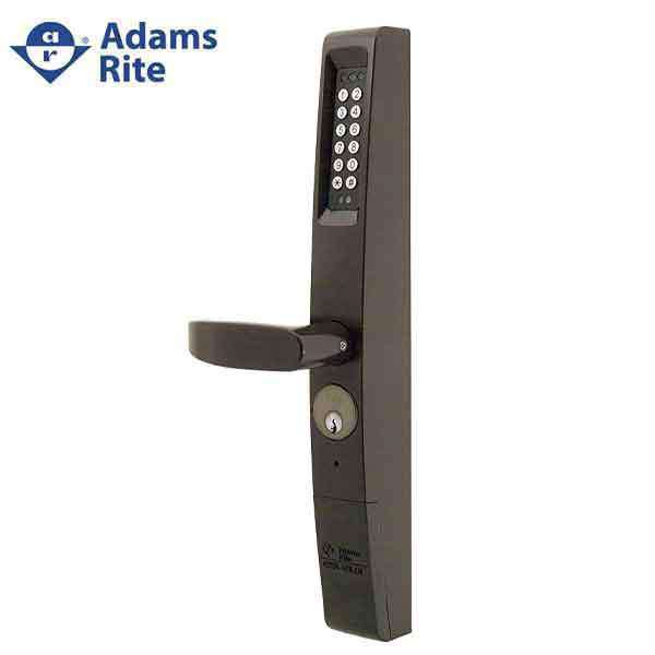 Adams Rite - eForce 3090-150 - Narrow Stile - Keyless Entry Electronic Lever Trim - Dark Bronze Anodized