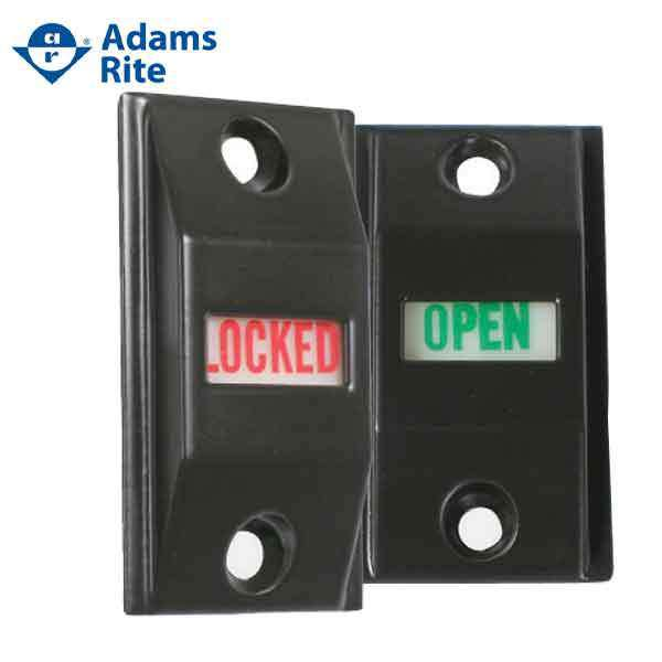 "Adams Rite - 4089 -  Privacy Exit Indicator - 1-3/4"" Door - Dark Bronze Anodized"