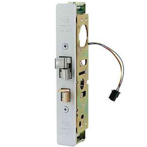 "Adams Rite - Steel Hawk 4300 E-Latch - Electrified Deadlatch - 31/32"" Backset - Surface Mount - Std Jamb - Aluminum - 12 /16 / 24 VDC"