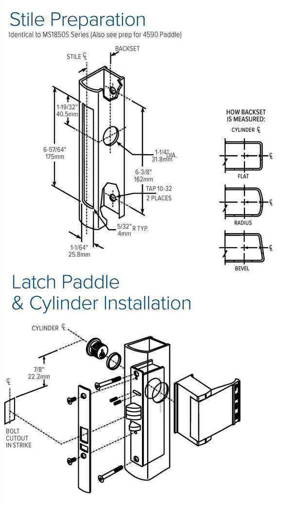"Adams Rite - 4513 -  Standard Duty Deadlatch - 31/32""  Backset - RH /LHR - Lock Body Only - No Face Plate - Zinc Plated"