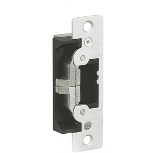 "Adams Rite - 7400 - Electric Strike for Adams Rite or Deadlatches or Cylindrical Locks - 1/2"" to 5/8"" Latchbolt  - Aluminum Anodized - Fail Safe/Fail Secure - 1-1/4"" x 4-7/8"" - Flat Radius Plate - 12/24 VDC"