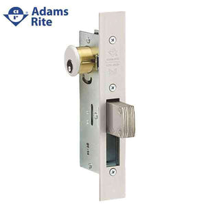 "Adams Rite - MS Deadlock - MS1850S - 1-1/8""  Backset - ANSI Size - Straight Bolt - Flat Faceplate - Aluminum - Metal Door"