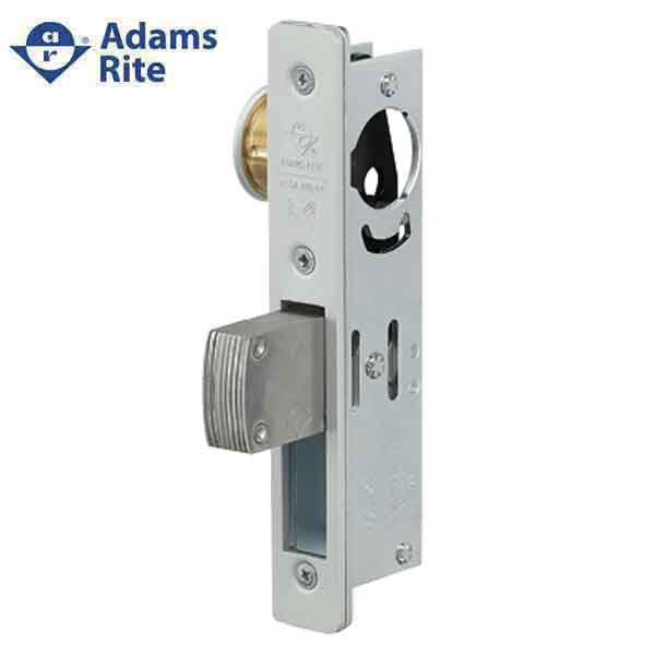 "Adams Rite - MS Deadlock - MS1851S - 31/32"" Backset - ANSI Size - Straight Bolt - Radial Faceplate -  Aluminum  - Metal Door"