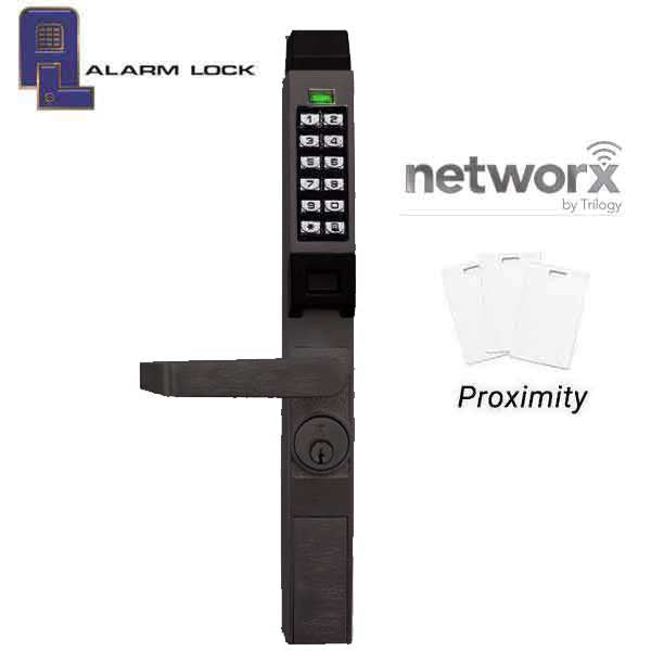 Trilogy PDL1300-NW - Narrow-Stile Digital Networx PROX Lever Lock w/ Wireless Access - Oil Rubbed Bronze - 10B  (Alarm Lock)
