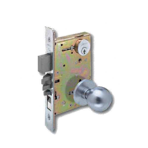 Arrow - AM20 - Interconnected Mortise Lock w/ Knob - Satin Chrome - Entrance - Grade 1