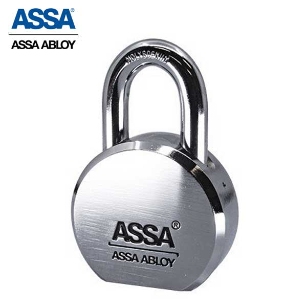 "ASSA - MAX+ / Maximum+  High Security Restricted Solid Steel SFIC Padlock with 1"" Shackle"