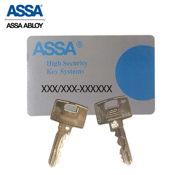 ASSA - MAX+  Maximum + E  Security Restricted Small-Format IC Core Cylinder - SFIC - 6 Pins