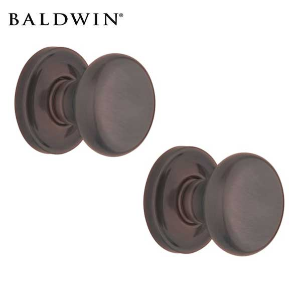 Baldwin Estate - 5015 Classic Knob - 5048 Circle Rose - 112 - Venetian Bronze - Passage - Grade 2