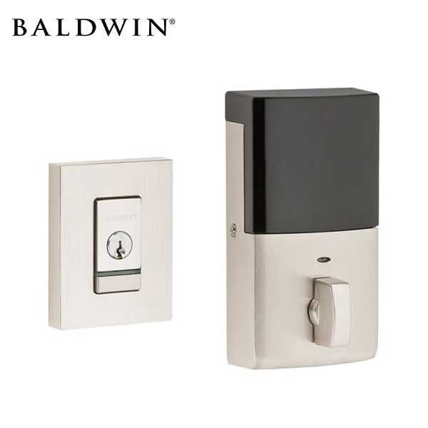 Baldwin Estate Evolved - 8220.B Contemporary Electronic Deadbolt - Singl Cyl  - Bluetooth - 150 - Satin Nickel - Grade 2