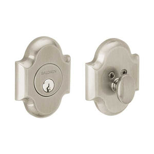Baldwin Estate Arched Deadbolt  - 8252.150 - Singl Cyl - 150 - Satin Nickel - Grade 1