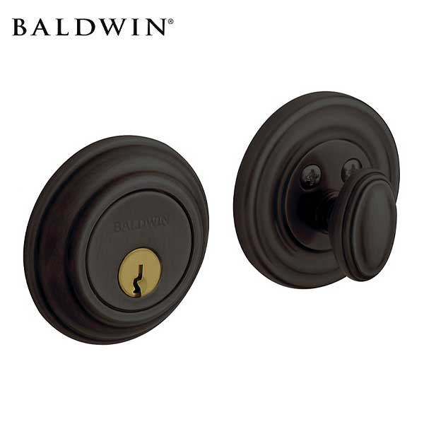 Baldwin Estate - 8231 Traditional Deadbolt - Singl Cyl - 102 - Oil Rubbed Bronze - Grade 1