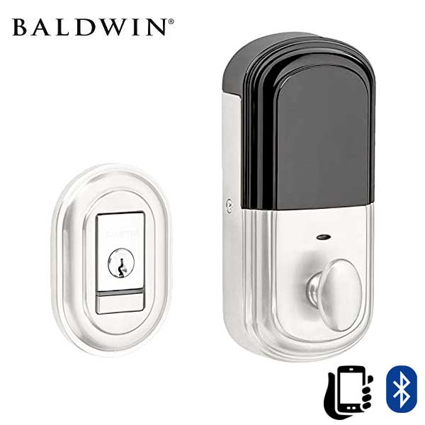 Baldwin Estate Evolved - 8231.B Traditional Electronic Deadbolt - Singl Cyl  - Bluetooth - 260 - Polished Chrome - Grade 2