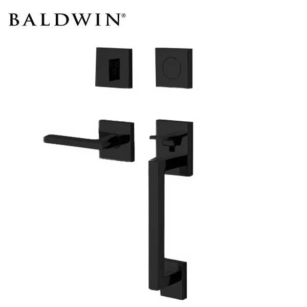 Baldwin Estate - 85390.RFD - Minneapolis Sectional Handleset - Full Dummy - 190 - Satin Black - Grade 2 - RH