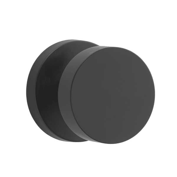 Baldwin Reserve - PV.CON.CRR- Contemporary Knob - Round Rose - 190 - Satin Black - Privacy - Grade 2