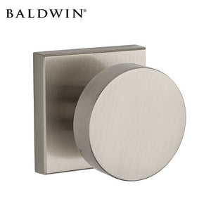 Baldwin Reserve - PS.CON.CSR - Contemporary  Knob - Square Rose - 150 - Satin Nickel - Passage - Grade 2