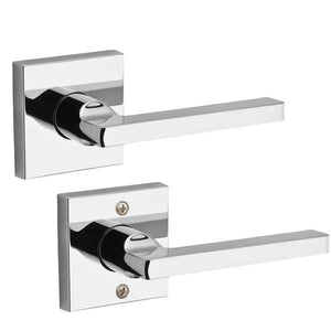 Baldwin Reserve - PS.SQU.CSR - Contemporary Square Lever - Square Rose - 260 - Polished Chrome - Passage - Grade 2 - RH