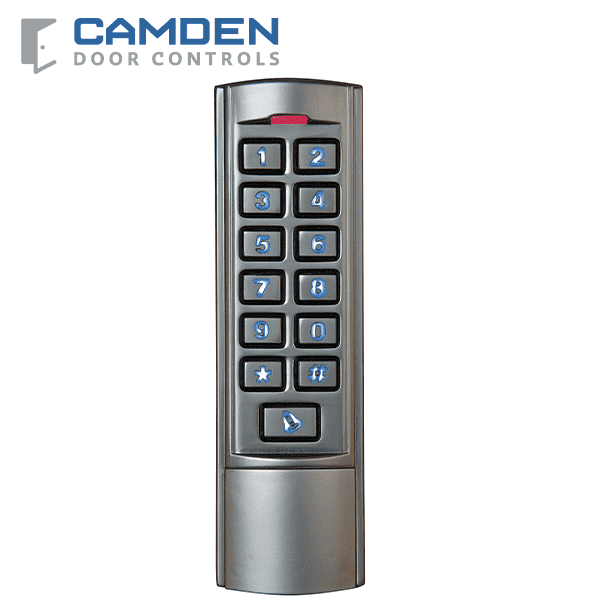 Camden CM-110SK - Surface Mount Keypad - Weather & Vandal Resistant - 2000 Users - 12VDC