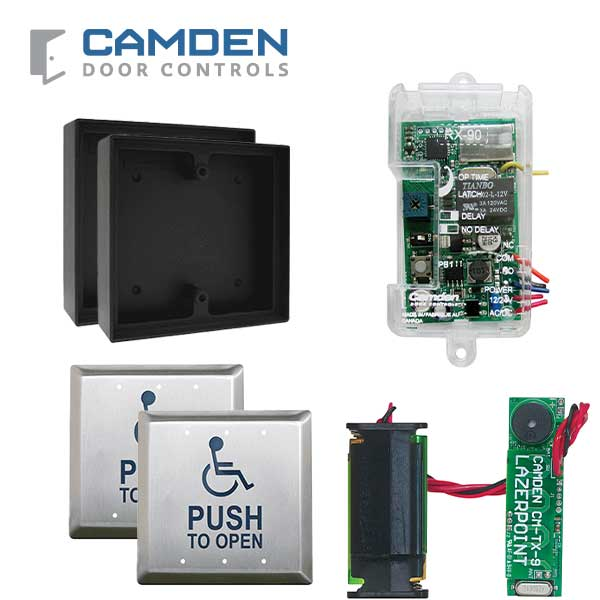 Camden - RFL454-LPA - Wireless Switch Kit w/ Advanced Receiver - Surface Shallow Box - Push Plate Switch & Wall Switch Transmitter