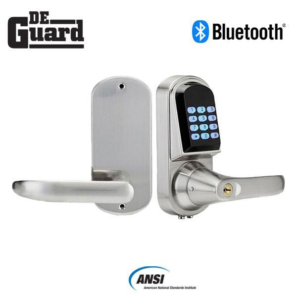 Electronic Bluetooth Lever – SS – Satin Silver – w/ Phone App