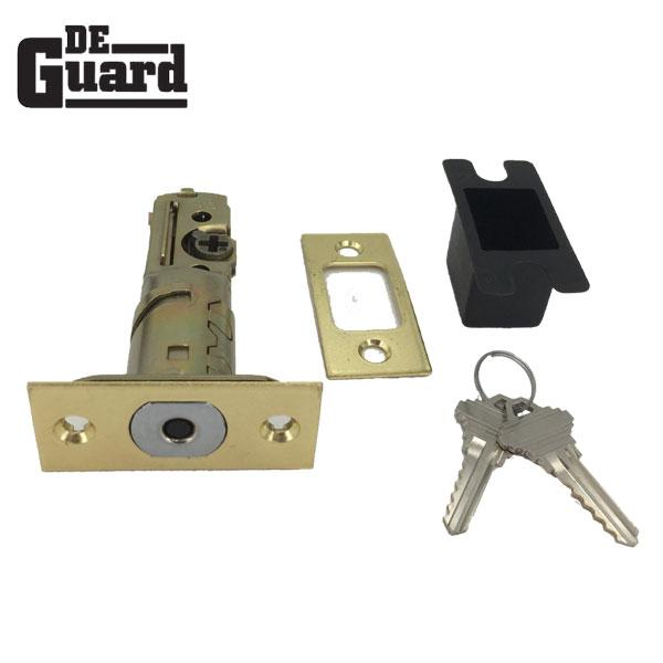 "Premium Single Cylinder ""Spin To Lock"" Deadbolt - Polished Brass - Grade 3 - KW1"