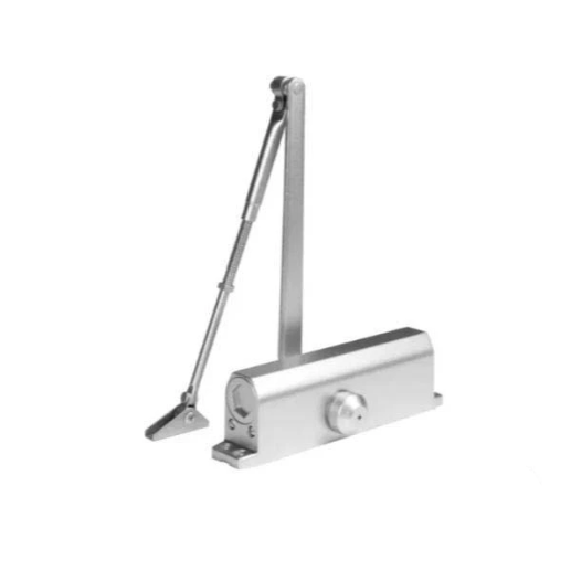 Hydraulic Door Closer / Back Check / w/ Hold To Open - Grade 1 - Satin Nickel - Adjustable Size 1-6