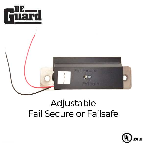UL Listed Electric Strike Kit w/ 2 Face Plates - Adjustable Fail Safe / Fail Secure -  Adjustable 12/24VDC - Grade 1