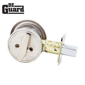 Heavy Duty IC Core Deadbolt and IC Core Cylinder Bundle - Grade 2 - Satin Stainless Steel - SC1 - UL Listed