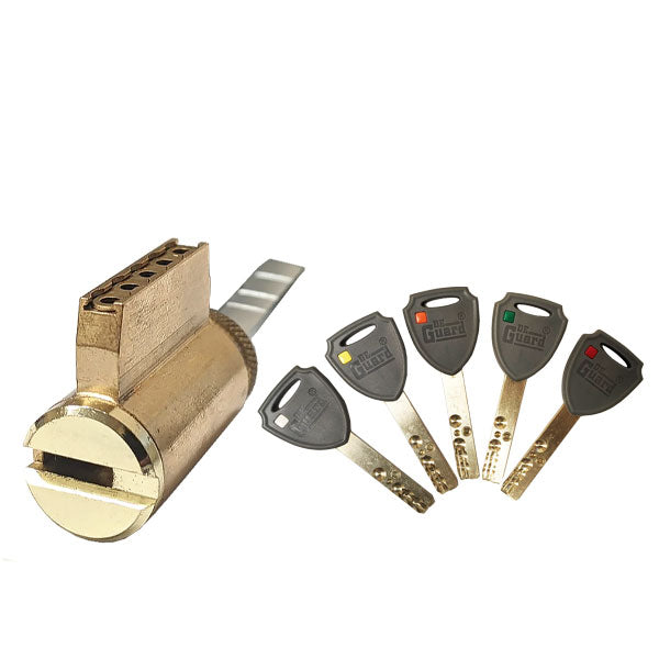 High Security - (Key-In-Knob) KIK Cylinder - 206 Keyway - US3 - Polished Brass