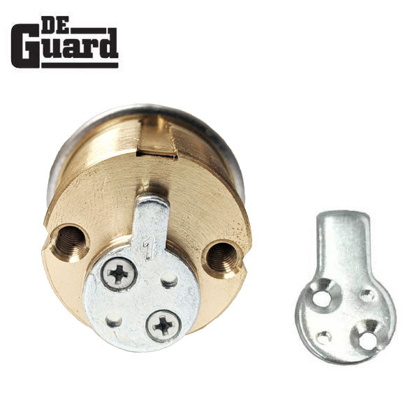 "High Security - RIM/Mortise Cylinder - 1-1/8""- 206 Keyway - US26D - Satin Chrome"