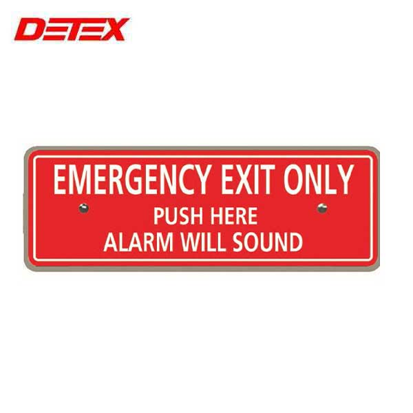 "Detex - Replacement ""Emergency Exit Only"" Plate for ECL-230D Exit Device"