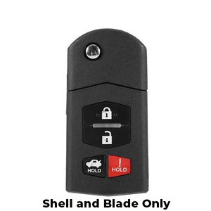 2006-2015 Mazda / 4-Button Flip Key SHELL for BGBX1T478SKE125-01 (FKS-MAZ-044)