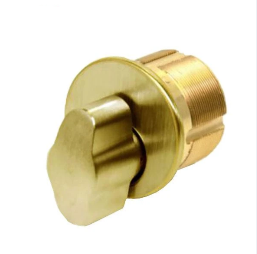 "GMSThumb-Turn Mortise Cylinder - 1"" - US3 - Polished Brass"