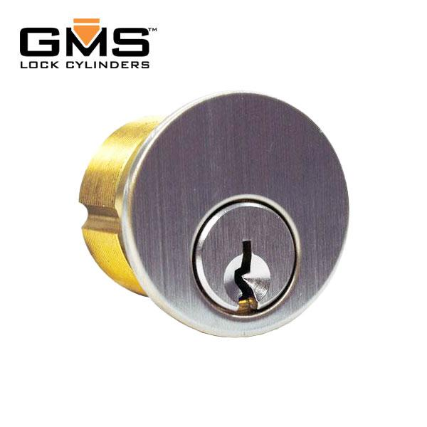 "GMS Mortise Cylinder - 1-1/8""- 5-Pin - US26D - Satin Chrome"