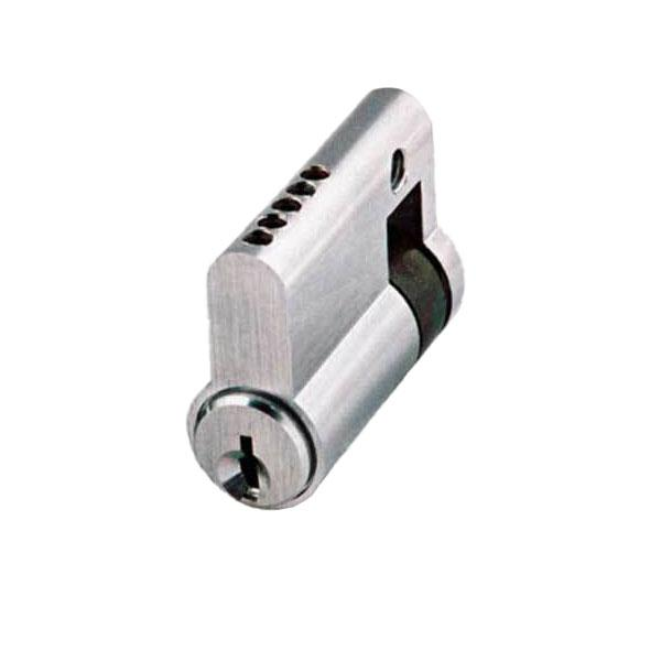 GMS Profile Cylinder - Single-Sided - SC1 - US26D - Satin Chrome