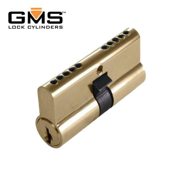 GMS Profile Cylinder - Double-Sided - SC1 - US3 - Polished Brass