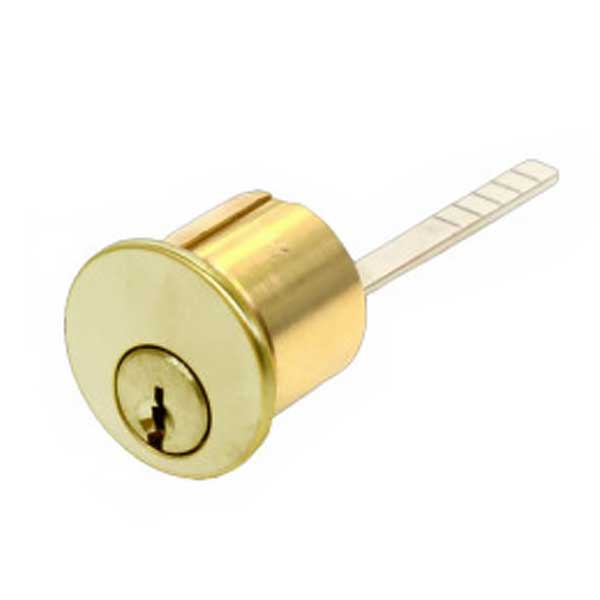 "GMS Rim Cylinder - 1-1/8"" - 5 Pin -  US3 - Bright Brass - SC1"
