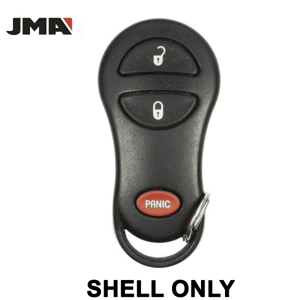 1999-2005 Chrysler Dodge Jeep / 3-Button Keyless Entry Remote SHELL for GQ43VT13T / GQ43VT17T / GQ43VT9T (JMA)