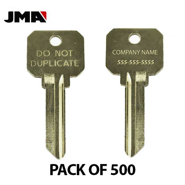 JMA - Custom Personalized Engraved - SC4 (Do Not Duplicate) Key Blanks ( PACK OF 500 )