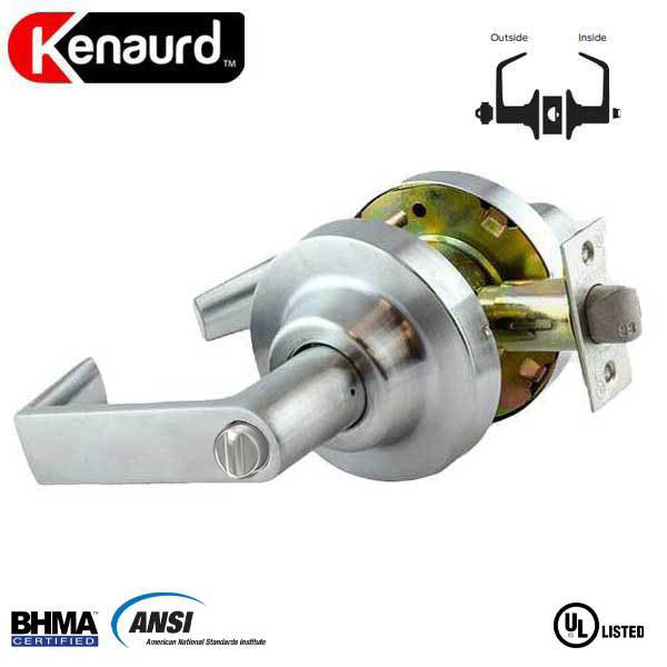 "Commercial Lever Handle - 2-3/4"" Standard Backest - Satin Chrome - Entrance - Grade 1"